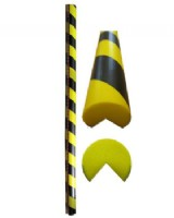Circular Foam Corner Edge Protector Yellow-Black