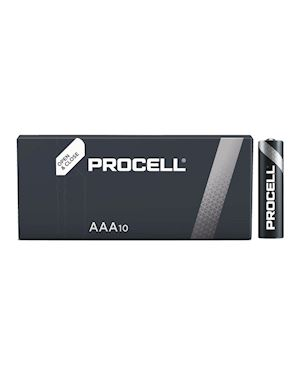 Procell Duracell Industrial AAA Alkaline Batteries 1.5V (Pack Of 10)