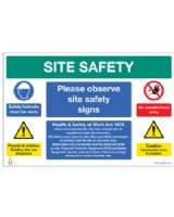 Site Safety Sign On Foamex Board