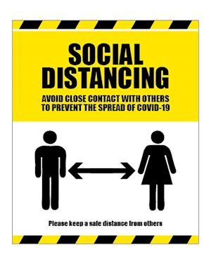 Social Distancing - Avoid Contact Sign