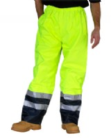 Hi - Vis Belfry Waterproof Trouser Saturn Yellow/ Blue