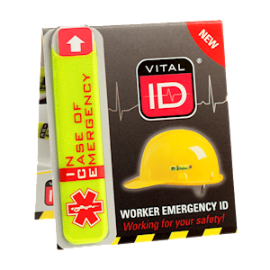 Worker Emergency ID Tag - Helmet mounted