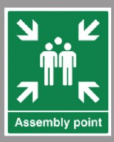 Assembly Point Sign Rigid PVC