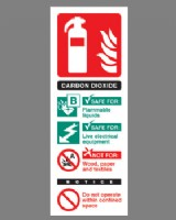 Fire Extinguisher Position Sign (Carbon Dioxide) Rigid Plastic