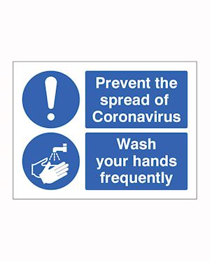 Coronavirus - Wash your Hands Safety Sign