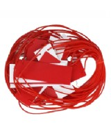 Red And White Bunting - 25m Tag Tape Pendant Style