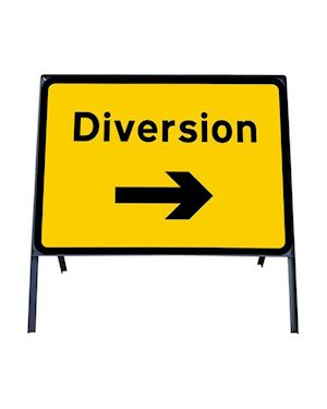 Diversion Right Metal Sign In Frame Chapter 8 Red Book