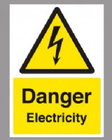 Danger Electricity Sign Self Adhesive Vinyl