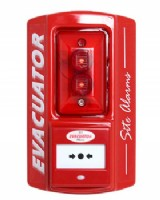 Evacuator Site Alarm Break Glass Activation