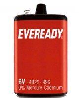 6 Volt Battery 4R25 - PJ 996 Eveready