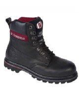 Fortec V1235 Black S3 Leather Safety Boot Mid-Sole