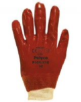 Polyco PVC Red Knitwrist Glove