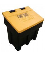 Grit Bin Heavy Duty Black With Yellow Lid