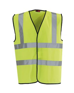 High Visibility Yellow Waist Coat Class 2