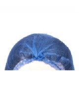 Hair Nets Blue Metal Detectable - Pack Of 100