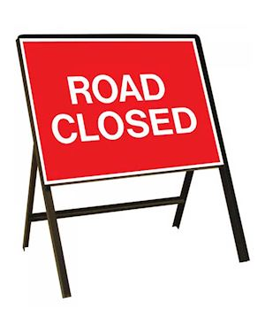 Road Closed Metal Sign Chapter 8 Red Book