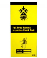 Safety Harness Inspection Record Pad - Booklet