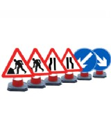 Road Works Chapter 8  Red Book Cone Sign Set