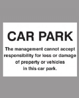 Car Park Notice Sign On Rigid Plastic