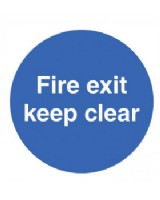 Fire Exit Keep Clear Sign Rigid Plastic