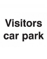 Visitors Car Park Sign On Rigid PVC
