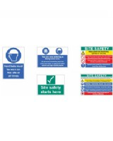 Site Safety Board Pack. Signs On Rigid PVC
